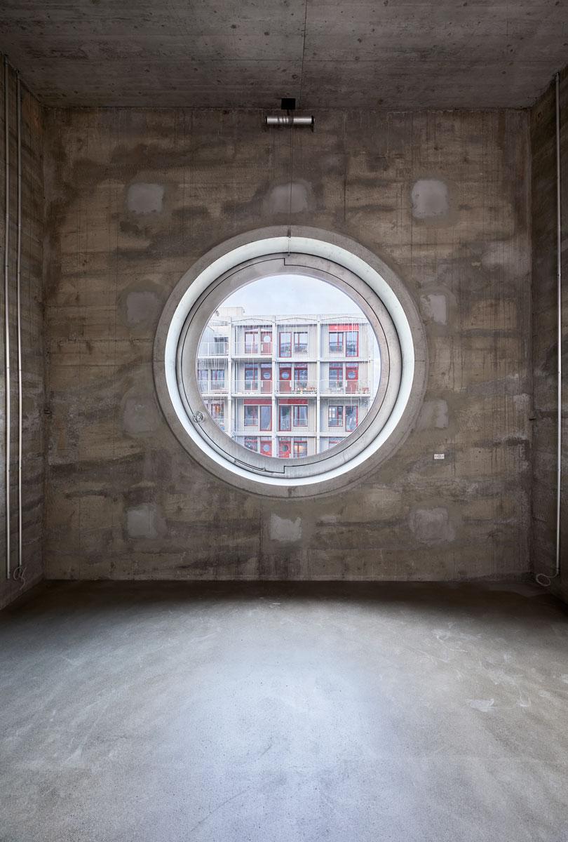 Stiftung Habitat, Umbau: Harry Gugger Studio: Silo Signalstrasse